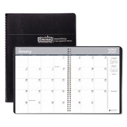 Recycled 24-Month Ruled Monthly Planner 11 X 8.5 Black 2021-2022   Total Quantity: 1