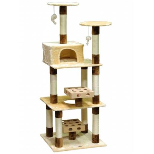 Go Pet Club SF059 IQ Busy Box Cat Tree House Toy Condo Pet Furniture, 27 W x 24 L x 73.5 H in.