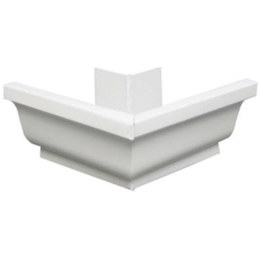 Amerimax Home Products 19202 4 in. White Vinyl Leg Tips Galvanized Steel Out site Mitre