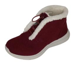 Ryka Sz 6 Wide Felted Faux Shearling Bungee Boots - Everest Burgundy A343452