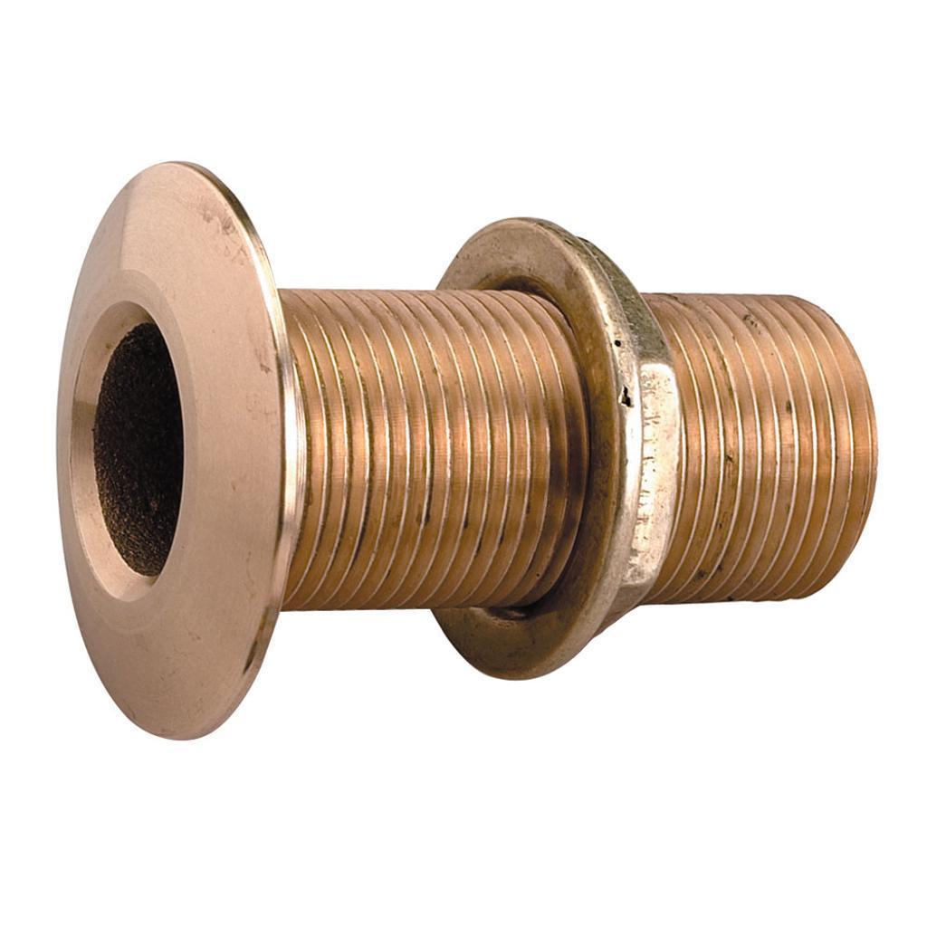Perko 1/2&Quot; Thru-Hull Fitting W/ Pipe Thread Bronze