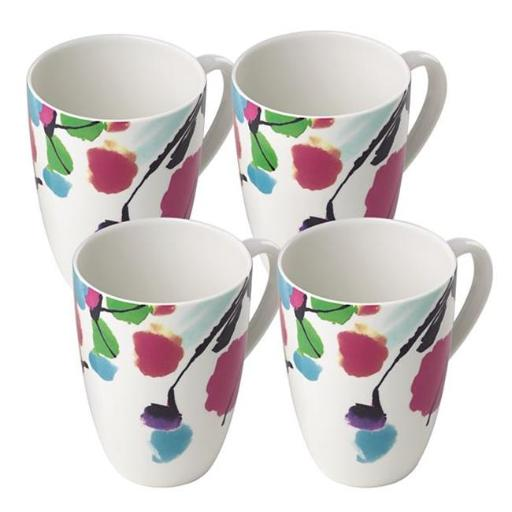 Lenox 879942 Manarola Mug Set, White - 4 Piece