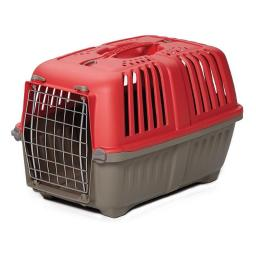 Midwest 1422SPR Spree Plastic Pet Carrier, Red
