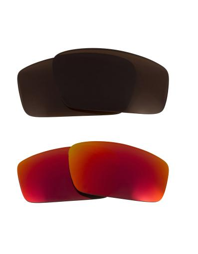 Best SEEK Replacement Lenses for Oakley SQUARE WIRE (2006) Brown Red Mirror