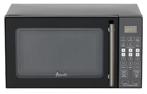 0.8 CF Microwave Oven 0.8 Cu. Ft. 700 Watts Designed for Hospitality Market Includes 2 USB Ports and Auxiliary Power Outlet Electronic Control Panel One Touch Cooking Programs Speed Defrost Cook / Defrost by Weight Kitchen Timer  Wall Hugger  Type Power Cord with 6' C