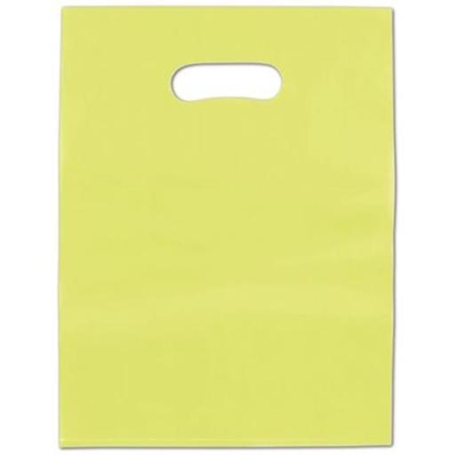 9 x 12 in. Frosted High Density Merchandise Bags, Lime Green