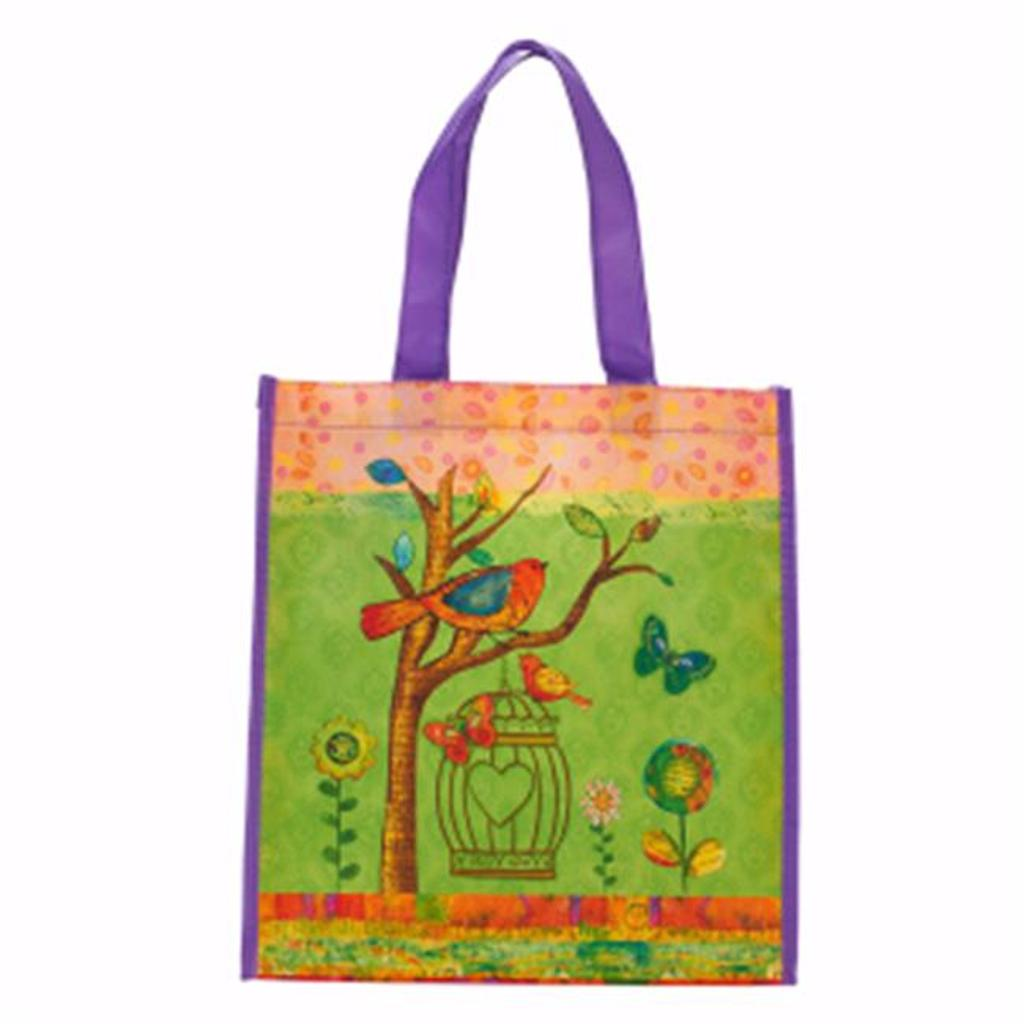 Christian Art Gifts 361378 Totebag-Non-Woven-Joyful Moments & May Your Day Be Blessed Non-Woven Totebag