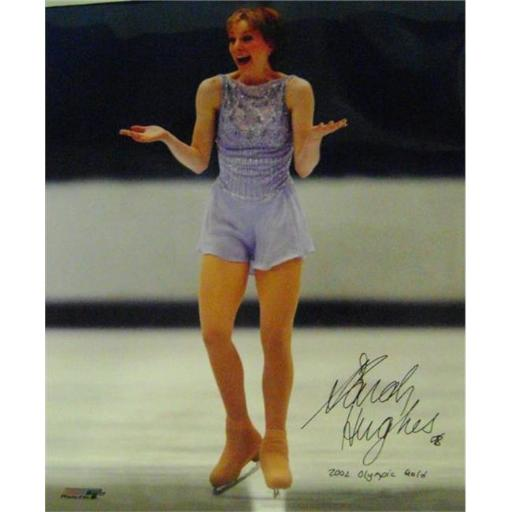 Autograph Warehouse 421844 Sarah Hughes Autographed Photo Inscribed 2002 Olympic Gold Figure Skating USA SC size 16x20