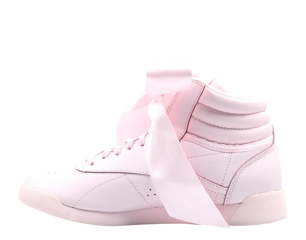 6b8313b817eb7 Reebok Reebok Freestyle HI Satin Bow Pink Skull Grey Women s Lifestyle  Shoes CM8905