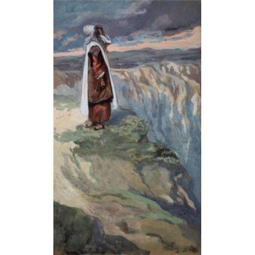 Posterazzi SAL999140 Moses Sees the Promised Land From Afar James Tissot 1836-1902 French Jewish Museum New York City Poster Print - 18 x 24 in.