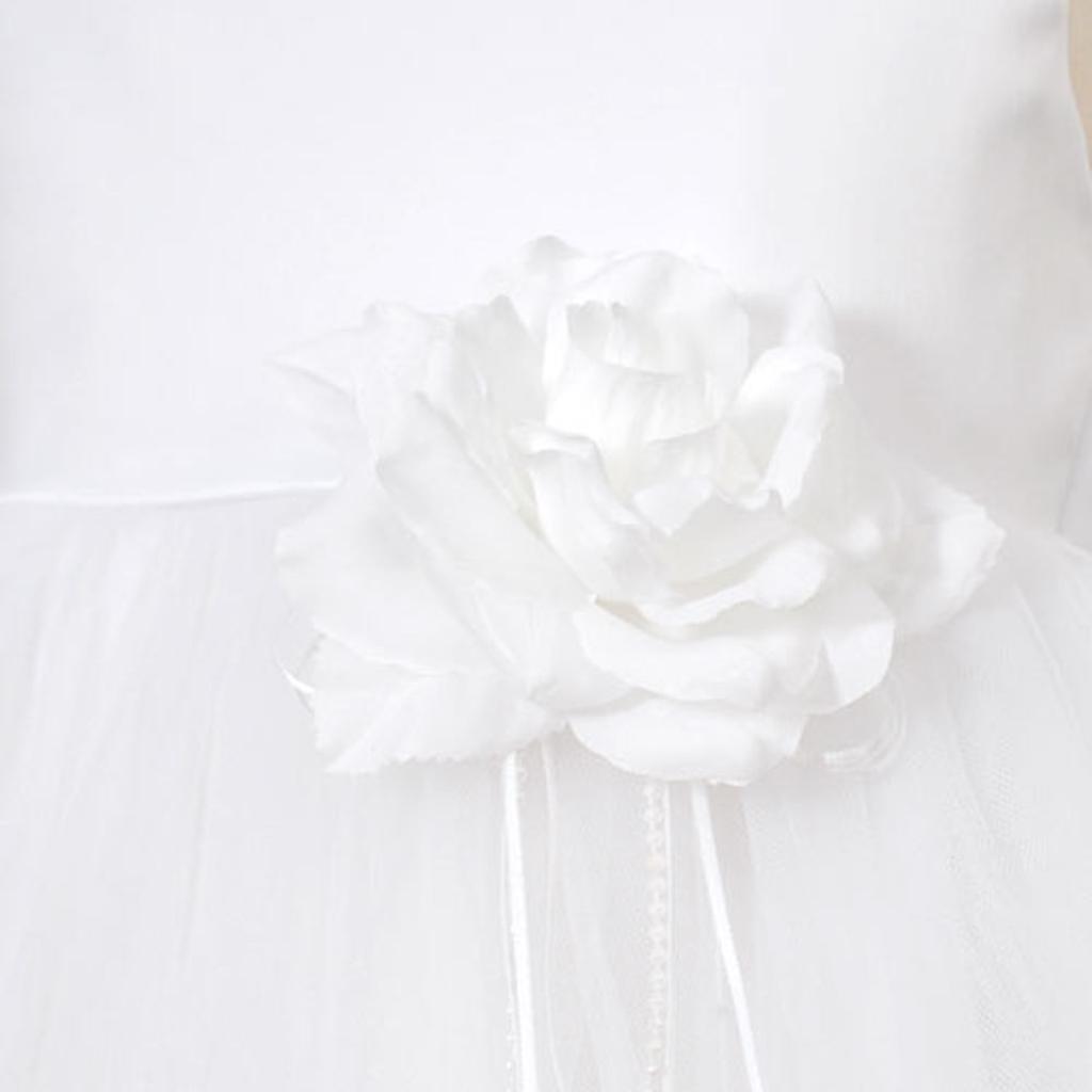 4b2bc1863d7 Kids Dream Kids Dream Big Girls White Petal Flower Girl Dress 8-14 ...
