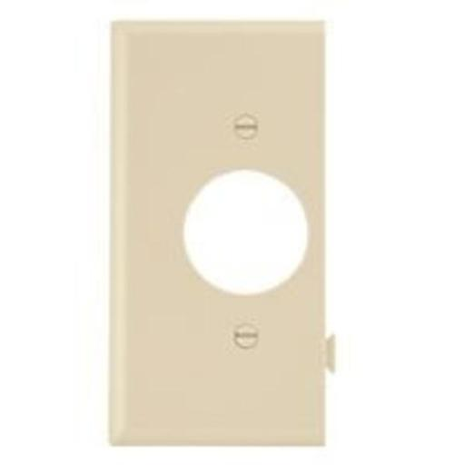 Cooper Wiring Ste7v Snap Toggle Single Receptacle Wall Plate, ivory
