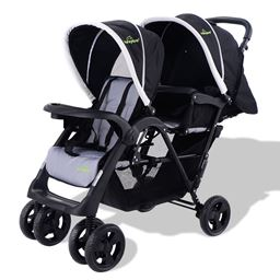 Foldable Twin Baby Kids Jogger Pushchair Stroller