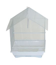 """YML A1314MWHT House Top Style Small Parakeet Cage - 13.3"""" x 10.8"""" x 17.8"""" - White"""