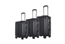 Brio Luggage Hardside Spinner Luggage Set #956 - Black