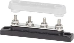 Blue Sea Systems 2315 MiniBus 100 Ampere Common BusBar (4 x 10-32 Stud Terminal with Cover)