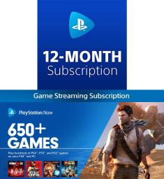 PlayStation Now 12 Month Subscription Digital Code