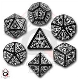 Q Workshop Steampunk Dice Black/White (7 Stk.) Board Game