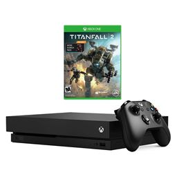 Microsoft Xbox One X 1TB Video Game Console and Titanfall 2 with Nitro DLC