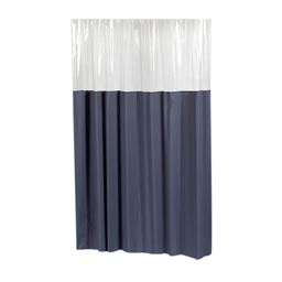 Carnation Home Fashions Window Vinyl Shower Curtain in Slate