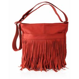 AFONiE  Western Messenger Fringe Mexican Leather Handbag Fringe Mexican Leather Handbag