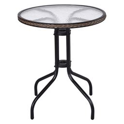 24 Patio Furniture Glass Top Patio Round Table""