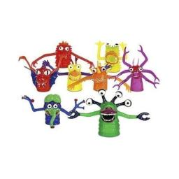 THE TERRIFYING FINGER MONSTER - SET OF 5 ASSORTED FINGER PUPPETS by Accoutrements