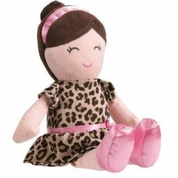 "Carter's Baby 13"" Soft Plush Toy - Leopard Dress Doll"