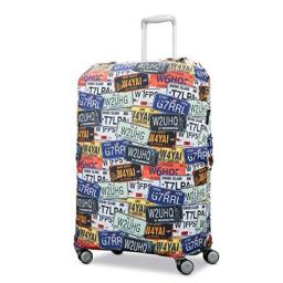 Samsonite Printed Luggage Cover-Medium, License Plate