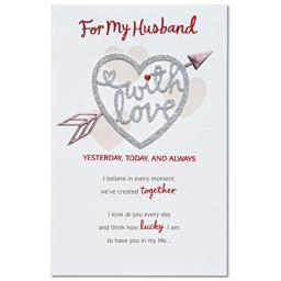 American Greetings Love Valentine's Day Card for Husband with Glitter