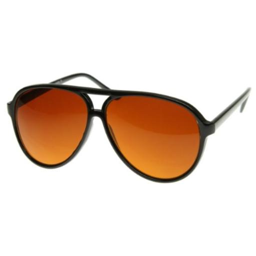 zeroUV - Retro Large Plastic Aviator Sunglasses with Blue Blocking Driving Lens Ditka Hangover Alan Burt Macklin FBI (B) 100% Protection Against Harmful UVA/UVB Rays*Great for costumes and all year round*Tinted Amber Driving Lens*Reinforced Metal Hinges*30 DAY MONEY BACK GUARANTEE AND 90 DAY LIMITED WARRANTY AGAINST MANUFACTURER DEFECTS: Our main goal is make our customers happy and provide the best shopping experience; If you are not completely satisfied with our product or your purchase please contact us, we'll be happy to help