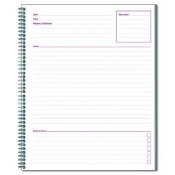 Cambridge 06132 Side Bound Guided Business Notebook, Linen, Meeting Notes, 11 x 8 1/4, 80 Sheets