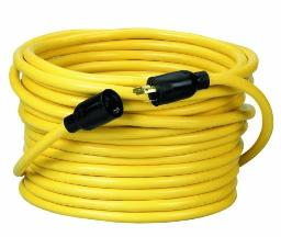 Coleman Cable 92098802 09209 12/3 SJTW 300-Volt Extension Cord, 100-Ft, Yellow