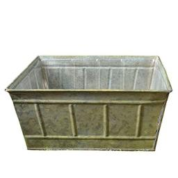 Avery Square Tin Planter for Flower, Herb or Miniature Garden