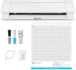 """Silhouette Cameo 4 Plus - 15 Inch Version - 15"""" Cutting Mat, Power Cords, Built in Roll Feeder, Silhouette Studio Software"""