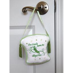 "Lillian Rose Sweet Pea Door Hanger, 5.5"" x 6"""