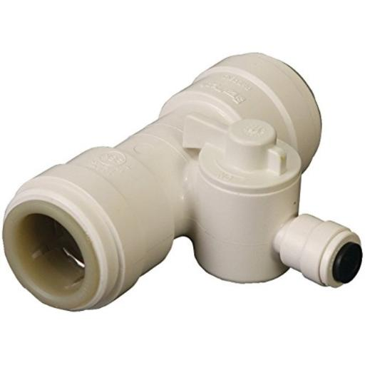 Dormont TEE-010-P5 1/2-Inch Quick Connect Tee Valve .Lead-free.Ideal for installing refrigerators, ice makers, humidifiers, water filtration systems & evaporative coolers.Great for all your needs.Lead Free; deal For Installing Refrigerators, Ice Makers, Humidifiers,.Ideal For Installing Refrigerators, Ice Makers, Humidifiers,.Also Ideal for installing Water Filtration Systems & Evaporative Coolers.
