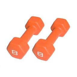 CAP Barbell Neoprene Coated Dumbbell (Pair), 8 lb, Orange