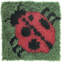 "Caron Natura Latch-Hook Kit, Ladybug, 12"" X 12"""
