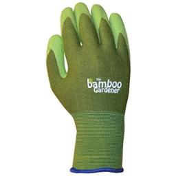 The Bamboo Gardener Rubber Palm Gloves,Small