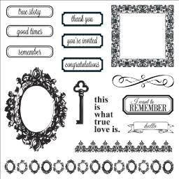 Fiskars 100610-1001 Teresa Collins Simple Stick Rubber Stamps, Thank You, 8 by 8-Inch