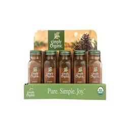 SIMPLY ORGANIC Org Pumpkin Pie Holiday Tray - 15 Count, 1.94 Ounce
