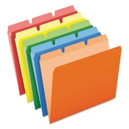 Pendaflexamp;reg; Ready-TabTM - Ready-Tab File Folders, 1/3 Cut Top Tab, Letter, Assorted Colors, 50/Box - Sold As 1 Box - Feature Three tab Positions-Pick one and fold The Others Out of The Way.