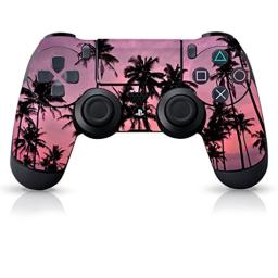 """Controller Gear Authentic and Officially Licensed PS4 Controller Skin """"Pink Palm Trees"""" (Playstation 4 Controller Sold Separately)"""