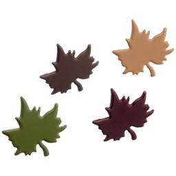 Creative Impressions Painted Metal Paper Fasteners 50/Pkg-Leaves/Fall