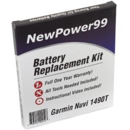 NewPower99 Battery Replacement Kit with Battery Video Instructions and Tools for Garmin Nuvi 1490T