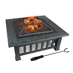 Upland Fire Pit with Cover (Antique Finish)