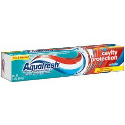 Aquafresh Cavity Protection Fluoride Toothpaste, Cool Mint 3 oz (Pack of 12)