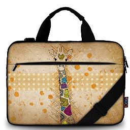 iColor 14 15 15.4-inch Laptop Shoulder-Bag - Canvas Computer Tablet Protective Carrying Case 14-15.6 inch Notebook Briefcase with Handle (14~15.6, Giraffe)