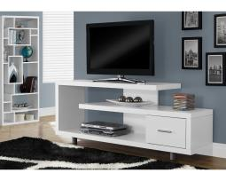 "Offex OFX-503305-MO Entertainment Room TV Stand, 60""L/White with 1 Drawer"